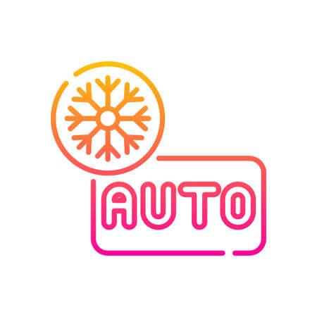 Auto mood vector gradient icon style illustration. EPS 10 file