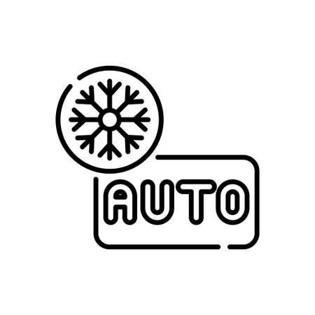Auto mood vector outline icon style illustration. EPS 10 file Vecteurs