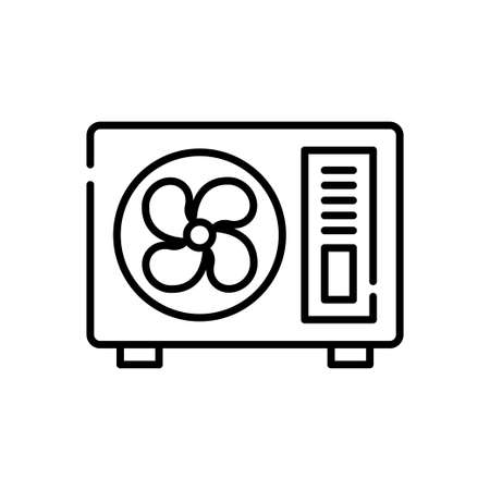 Outdoor unit vector outline icon style illustration. EPS 10 file