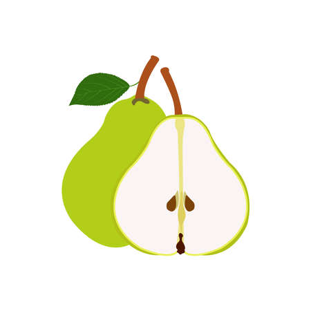 Health and Nutrition Benefits of Pears, Pear fruit vector illustrations