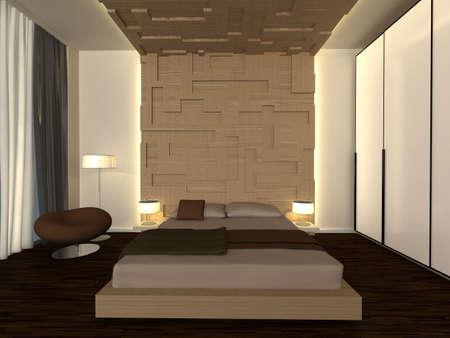 modern bedroom Stock Photo - 8909879