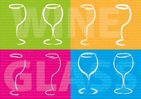 enzymes: Abstract color wine glass concept Stock Photo