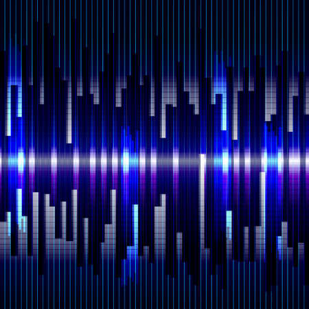 vertical lines: Abstract digital bacground.Motion blue vertical lines. Raster equalizer Stock Photo