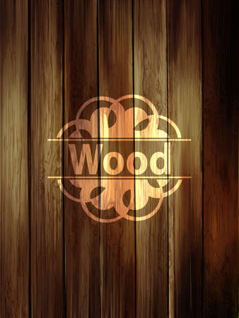 wood planks: Wooden vertical planks background. Realistic dark wood texture.