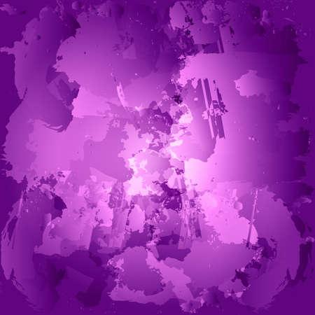 blob: Colorful oil paint stains. Blob watercolor painted. Purple brush.