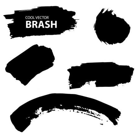 aquarell: Aquarell, Ink splash. Black and white  collection brush