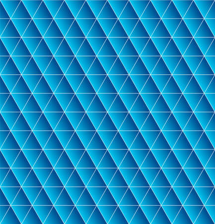 blue gradient: Triangles seamless  with blue gradient. Beautiful polygon texture. Geometric pattern in vector