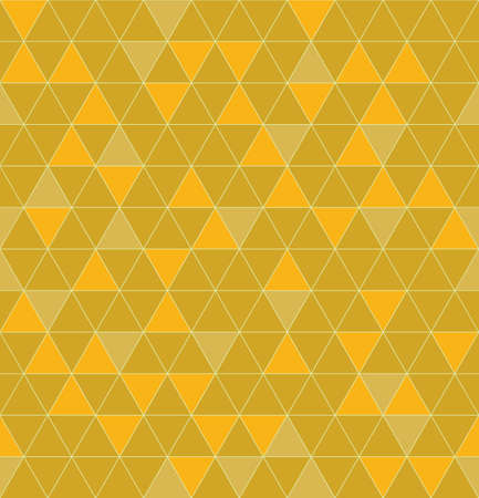 orange pattern: Triangles seamless. Beautiful polygon texture. Geometric yellow and orange pattern in vector Illustration