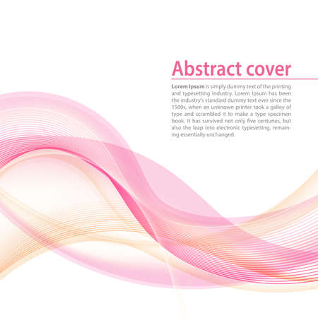 red line: Clean background with red orange gradient and blend. Business style or technology clean design. Modern vector backdrop with violet gradient and wave. Template cover or page