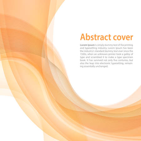business style: Clean background with yellow and orange gradient and blend. Business style or technology clean design. Autumn season Modern vector backdrop with orange gradient and wave. Template cover or page