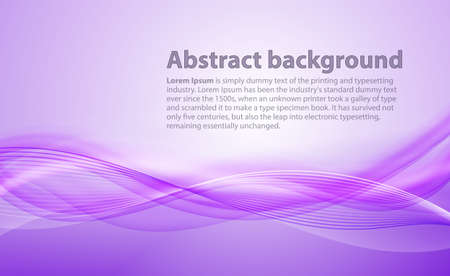 violet: Light purple background with gradient and blend. Business style or technology clean design. Modern vector backdrop with violet gradient and wave. Templete cover or page Illustration
