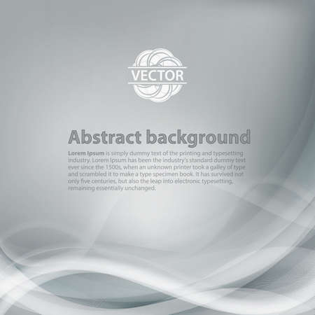 grey: Light grey background with gradient and blend. Business style or technology clean design. Modern vector backdrop with grey gradient and wave. Template cover or page