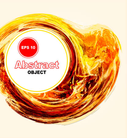 aquarell: Orange, yellow and red aquarell blob. Abstract vector object. Can be usefor cover, banner, background.