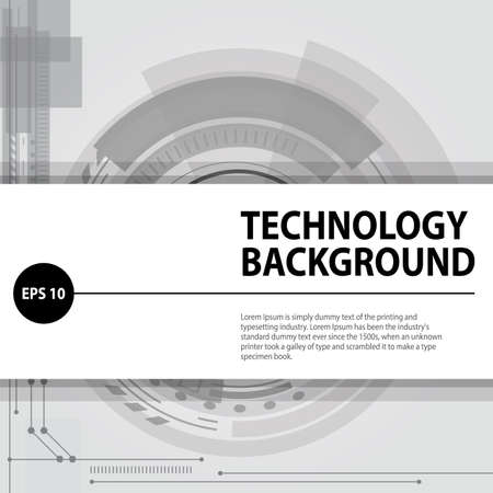 background isolated: Abstract technology contour object. Light futuristic concept, digital, round composition, gray. Black and white background. Vector version