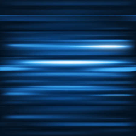 Abstract background. Motion blue horizontal lines. Vector technology backdrop for cover magazine, banner, catalog, web and advertisement. Energy and power