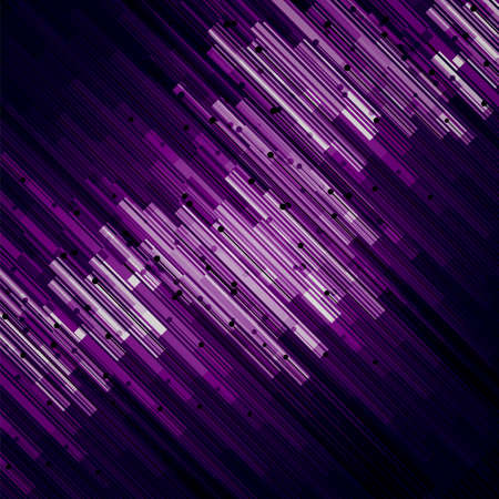 purple abstract background: Abstract technology diagonal contour objects. Light futuristic concept, digital purple and violet. Vector modern background