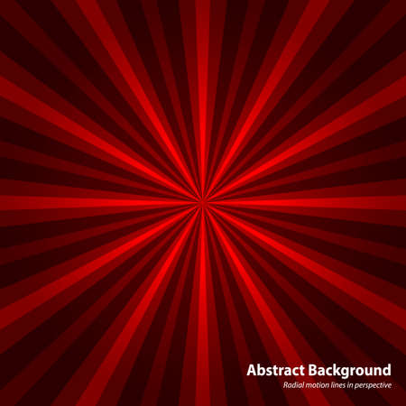 sun flare: Abstract starburst red background. Cool background for holiday. Radial motion lines in perspective. Abstract background in vector Illustration