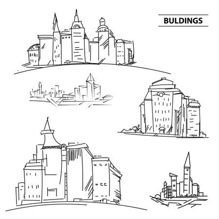 Set Buildings City S Sketchup Houses And Building Minimalism