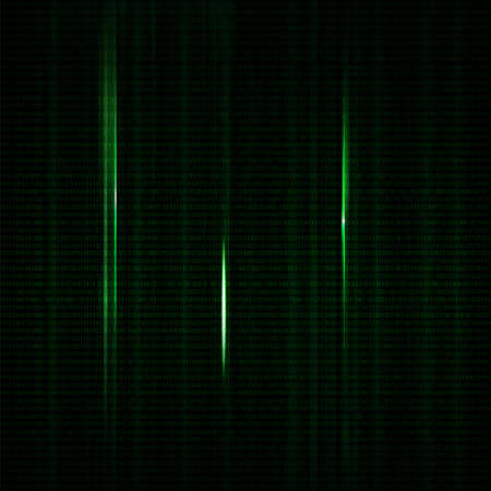 number code: Dark green blurred background with binary code in vector. Vertical number position green color with light and shadow
