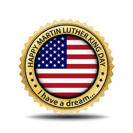 martin: Martin Luther King day emblem.