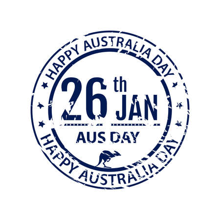 australia stamp: Australia day stamp in vector.