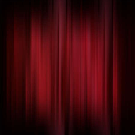 curtain design: Abstract background. Motion dark red vertical lines. Vector classic backdrop. Red curtains on theater or cinema stage Illustration