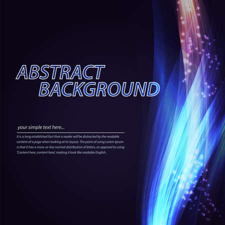 twist: Abstract colorful wave background. Technology style with blend. Moving Colorful Lines on the dark blue Background for Poster, Flyer, Cover, Presentation. Vector Rainbow Lines.