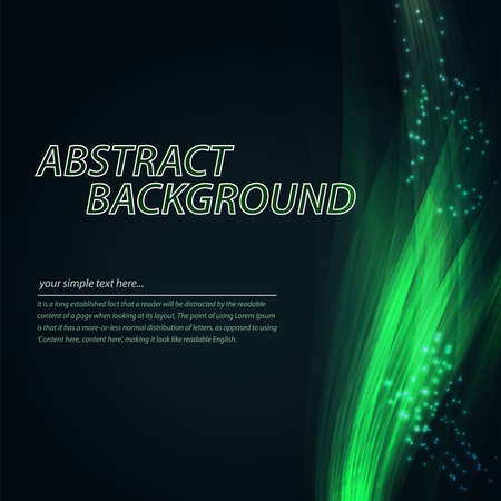 blend: Abstract colorful wave background. Technology style with blend. Moving Colorful Lines on the dark green Background for Poster, Flyer, Cover, Presentation. Vector Rainbow Lines.
