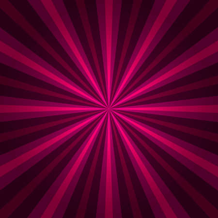 sunbeam: Abstract starburst red background. Radial lines. Vector cool background for holiday