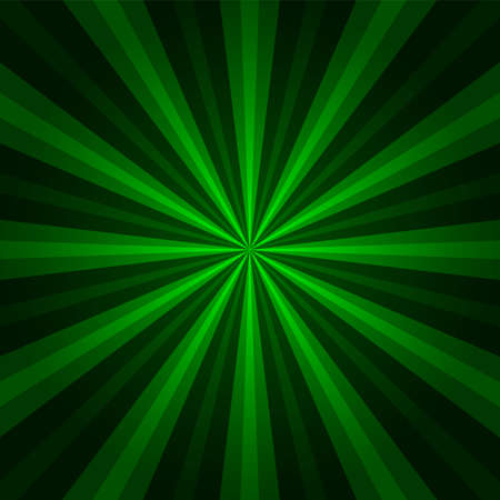 Abstract starburst green background. Cool background for holiday. Radial motion lines in perspective. Abstract background in vector Stock Vector - 58029379