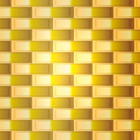 shaddow: Abstract gold grid in vector. Yellow  lattice with square cells and light. Orange squares with border