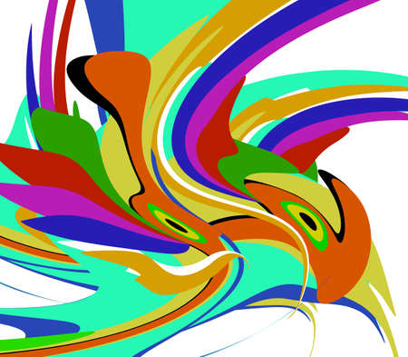 Holiday holi backdrop. Colorful abstract background in vector. Red, green and yellow parts like template for text