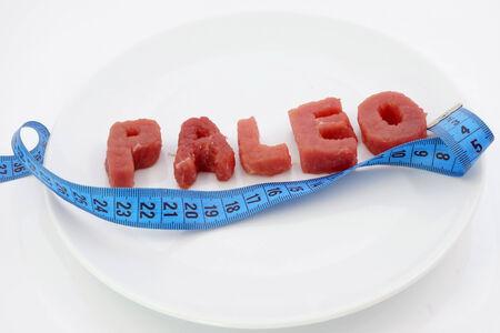 dieta sana: dieta paleo y p�rdida de peso Foto de archivo