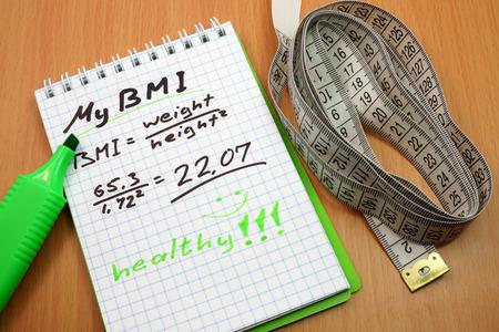 BMI: Body mass index BMI Stock Photo