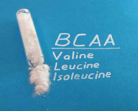 amino: bcaa, valine, leucine, isoleucine Stock Photo