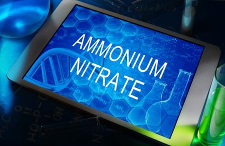 nitrate: AMMONIUM NITRATE Stock Photo