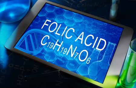 the chemical formula of FOLIC ACID photo