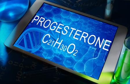 progesterone: the chemical formula of PROGESTERONE