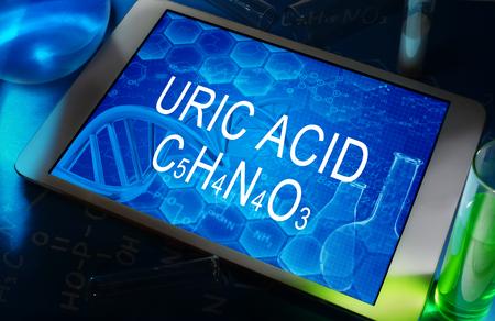 uric: the chemical formula of URIC ACID