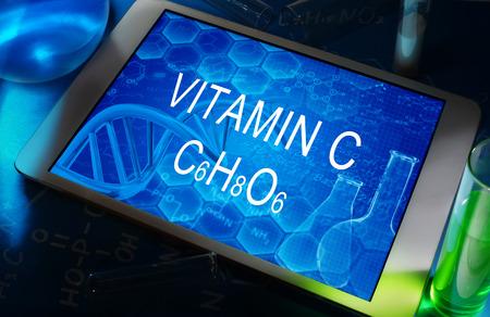 c vitamin: the chemical formula of VITAMIN C
