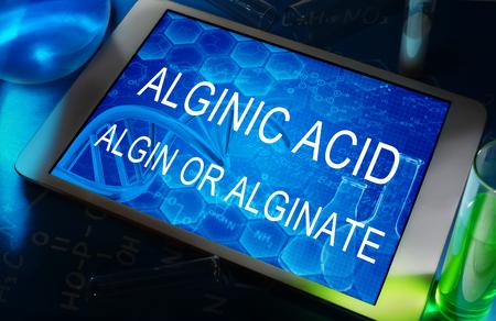 �cido: algina o �cido alg�nico alginato Foto de archivo