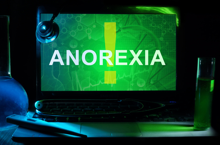 anorexia: Notebook with words   anorexia