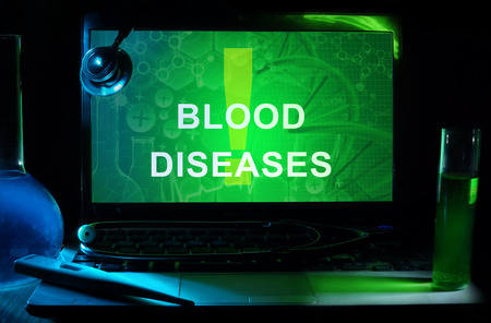 Notebook with words  blood diseases photo