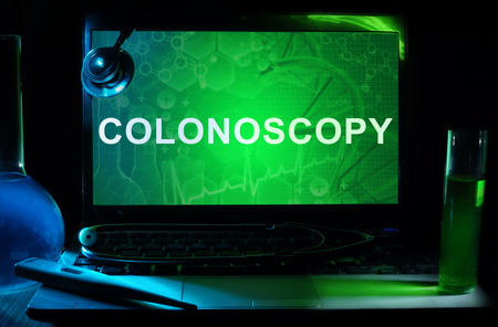 colonoscopy: Notebook with words  colonoscopy