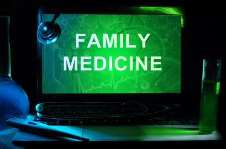 family medicine: Notebook with words  family medicine Stock Photo