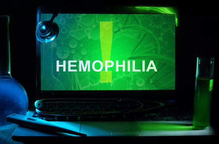 hemophilia: Notebook with words  hemophilia Stock Photo