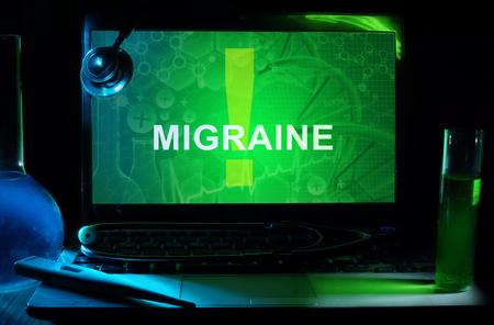 autonomic: Notebook with words  Migraine