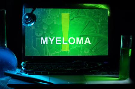 myeloma: Notebook with words  Myeloma Stock Photo