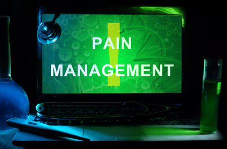 pain management: Notebook with words   pain management Stock Photo