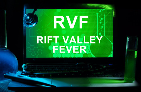 rift: Computer with words Rift Valley fever (RVF).